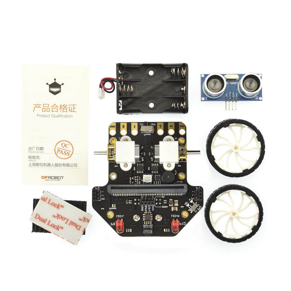 DFROBOT Micro: Maqueen Micro:bit Robot Platform - Graphical Programming Educational Robot Car for Kids - STEM Learning DIY Mini Robot Kit for Maker Education by DFROBOT (Image #4)