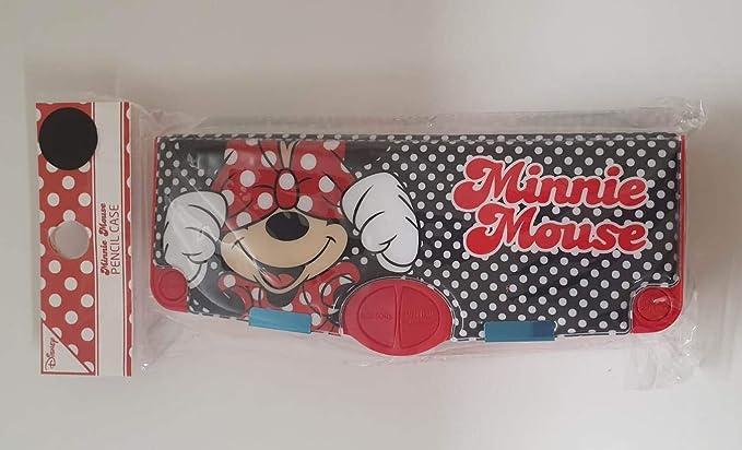 Caja de lápices oficial de Minnie Mouse de Disney, color rojo: Amazon.es: Oficina y papelería