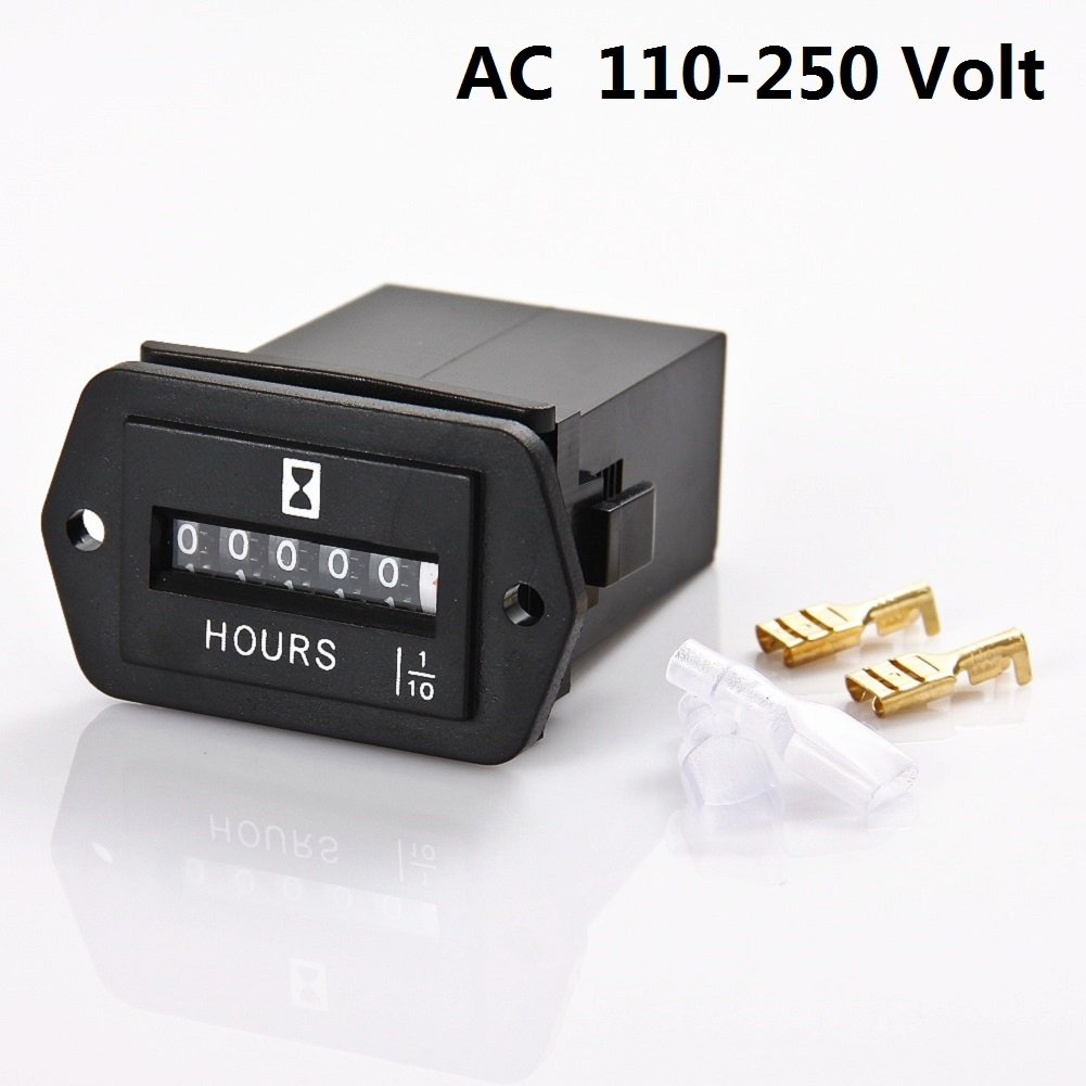 SEARON Quartz Hour Meter AC 110V 120V 220V 230V for Generator ATV Lawn Mower Chainsaw Compressor Tiller Chipper