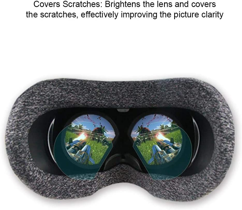 Coaste Lens Protector for VR Helmet TPU Film Anti-Sweat Dust-Proof Protect Eyesight VR Lens Film HD Clear Film Lens Protector for Valve Index Virtual Reality