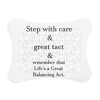 Amazon.com: Care And Tact Give You Balance Life Quotes Paper Card ...