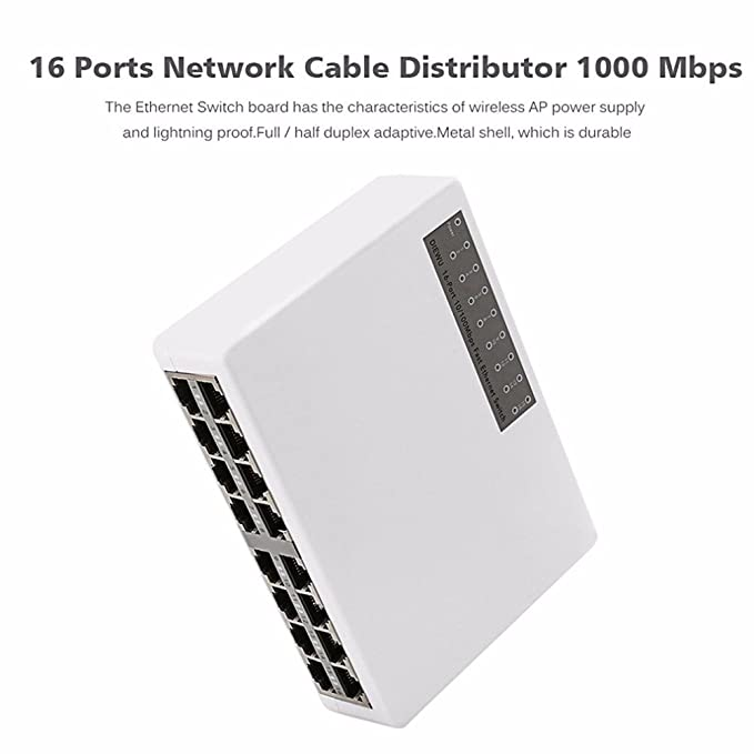 Metal Case 10//100Mbps 5 Port Mini Fast Ethernet Switch Switcher Desktop NEW USA