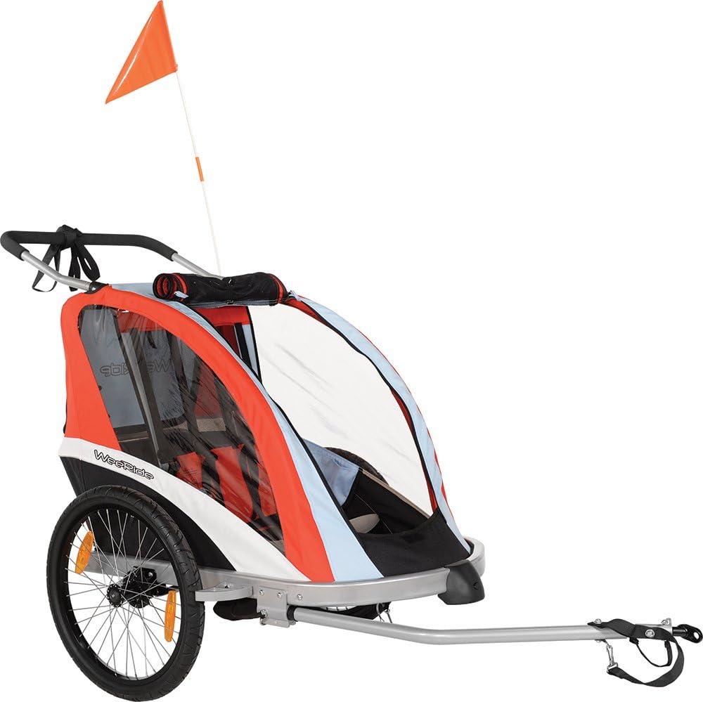 WeeRide 96090 Remolque para Bicicleta, Niños, Rojo/Azul, M