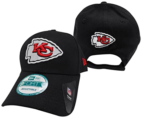 timeless design bb43e 253c4 Image Unavailable. Image not available for. Color  Kansas City Chiefs The  League Black 9FORTY Adjustable Hat ...