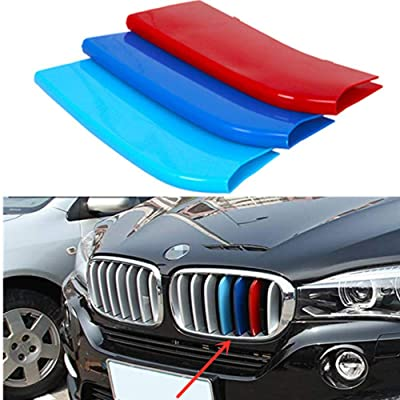 TOPGRIL M-Colored Stripe Grille Insert Trims M Sport Grille Insert Trim Strips FOR 2014-2020 BMW X5 F15 2015-2016 BMW X6 F16 Center Kidney Grill Stripes (Does NOT fit 2020 X6): Automotive