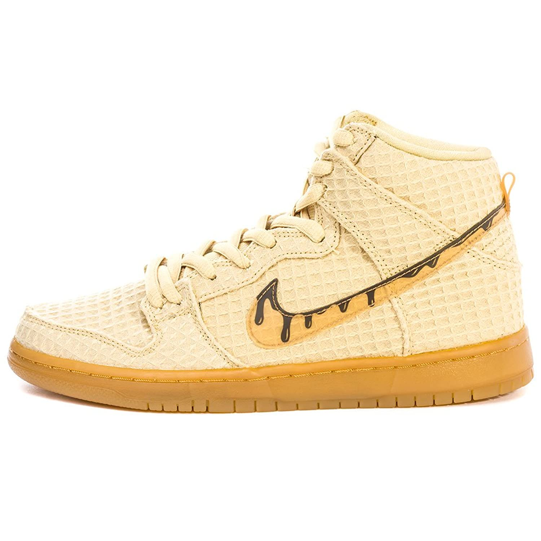 Amazon.com | Nike Dunk High Premium SB Waffle Flat Gold Classic Brown |  Skateboarding