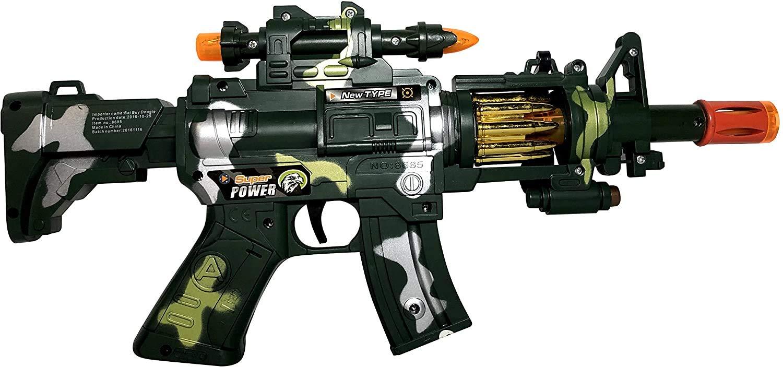 MTT Toy Machine Gun Toy – with Dazzling Light, Remarkable Sound & Amazing Machine Gun Live Action M4 Submachine Gun–Perfect Pretend Play Toy for Boys