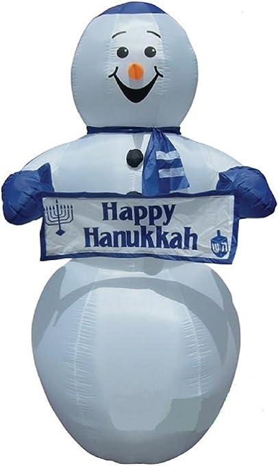 Amazon.com: Hanukkah hinchable 7 Tall muñeco de nieve con ...