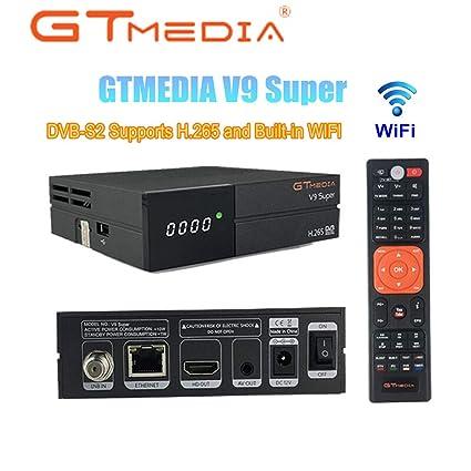 GTMEDIA V9 Super Satellite Receiver DVB-S2 Full HD 1080P Support H 265  PowerVu DRE & Biss Key Built-in WiFi