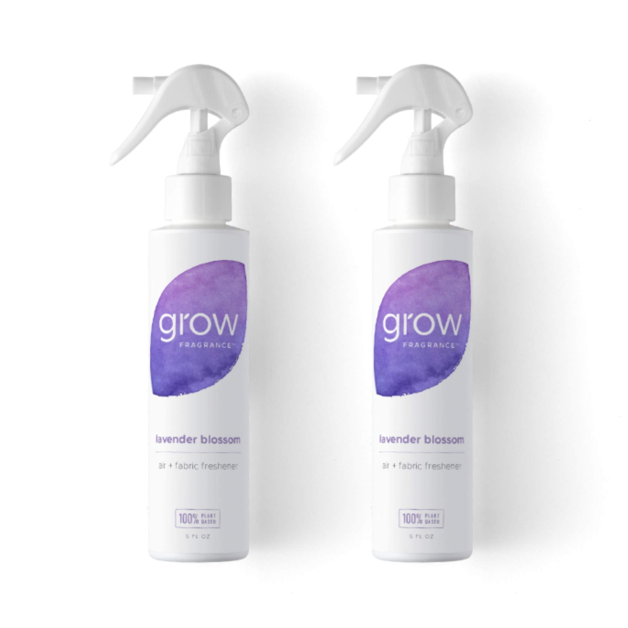 Grow Fragrance - Certified 100% Plant Based Air Freshener + Fabric Freshener Spray, Made With All Natural Essential Oils, Lavender Scent, 5 oz. (Pack of 2)
