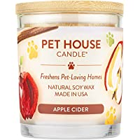 One Fur All 100% Natural Soy Wax Candle, 20 Fragrances - Pet Odor Eliminator, 60-70 Hrs Burn Time, Non-Toxic, Eco…