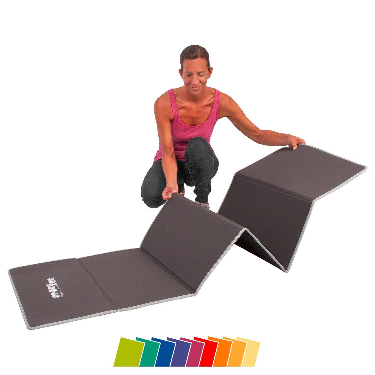 Gymnastikmatte faltbar, LxBxH 180x60x0,7 cm, grau grau <br /> Sport-Tec