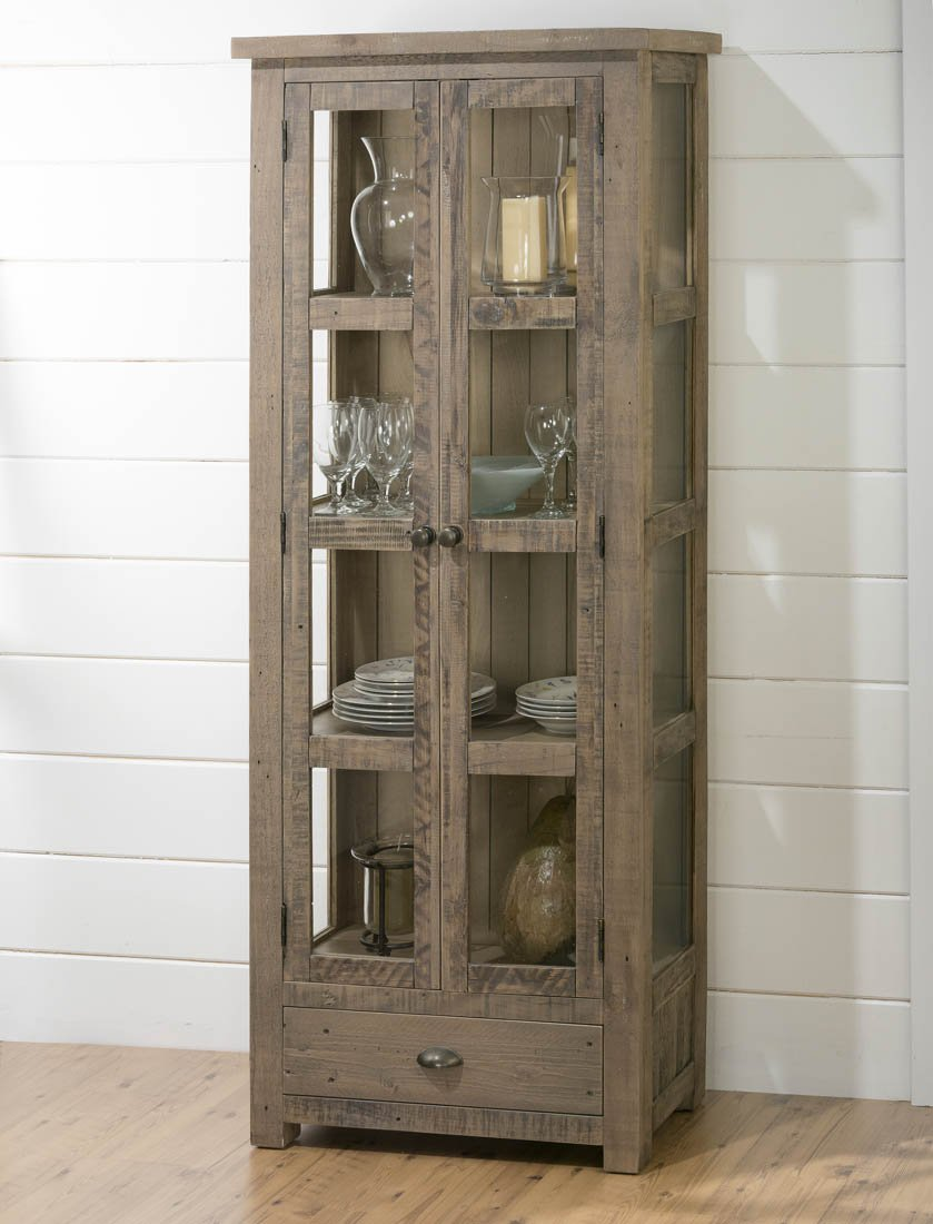 Amazon.com: Jofran Slater Mill Pine Kitchen Or Dining Room Display Cupboard:  Kitchen U0026 Dining
