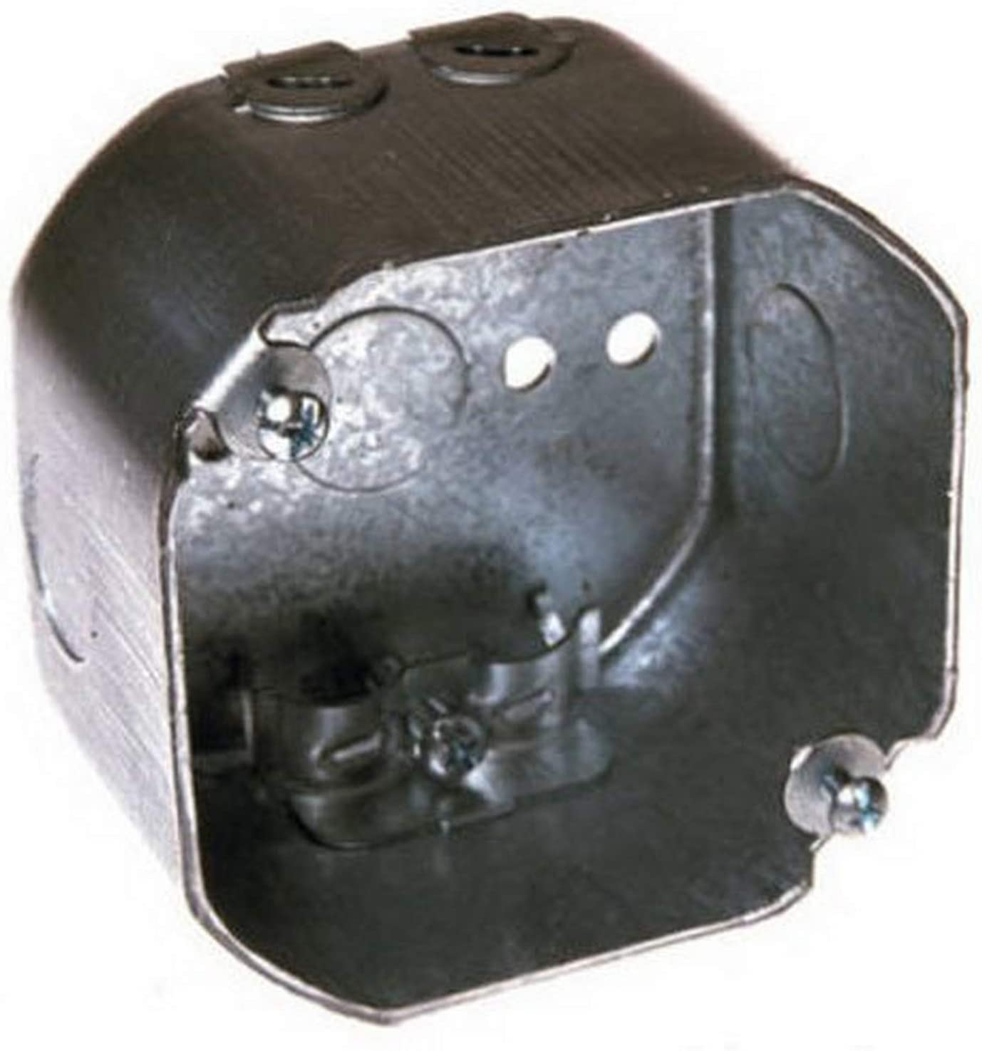 1//2-Inch Side Knockouts Hubbell-Raco 175 2-1//8-Inch Deep NMSC Clamps 4-Inch Octagon Box