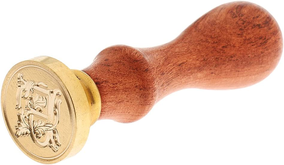 A-Z Siegel Siegelstempel Holzgriff Griff Siegelwachs Siegellack Stempel B