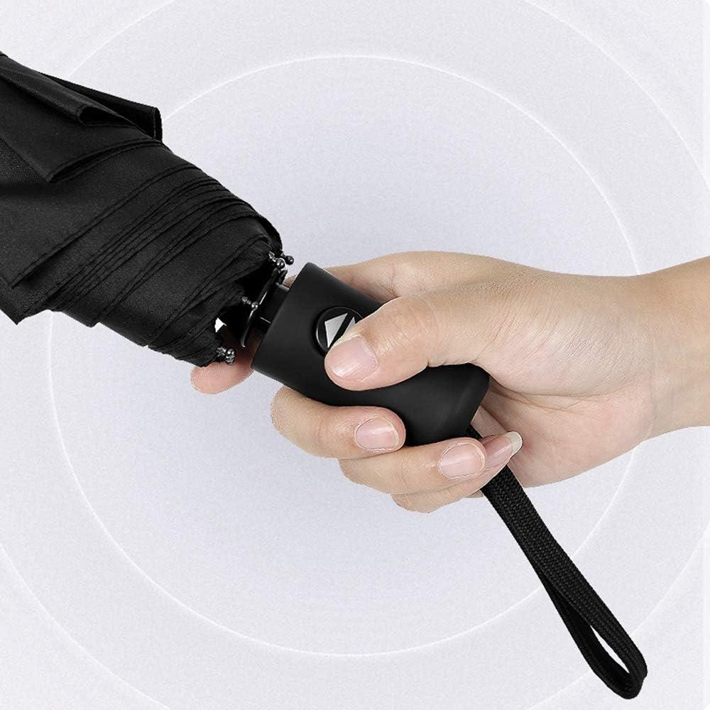 ZhiGe Foldable Umbrella,Female Automatic Umbrella and Durable 8 Ribs Strong Men Umbrellas Rain Women Folding Travel Kids Umbrella