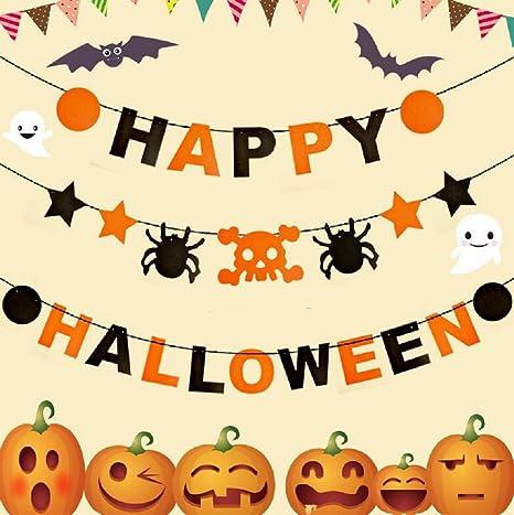 Cheap4uk Halloween Paper Garland Spider Banner Hanging
