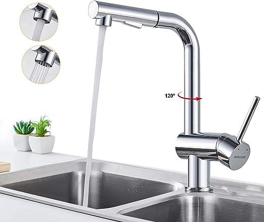 Einhebelmischer Spültisch Küchenarmatur Herausziehbare Wasserhahn Ausziehbrause
