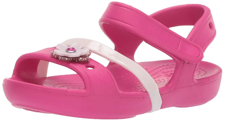 83a475d3768d6 Crocs Kids' Girls Lina Charm Flat Sandal