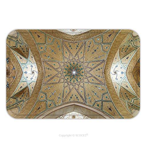 Flannel Microfiber Non-slip Rubber Backing Soft Absorbent Doormat Mat Rug Carpet Kashan Iran December Beautiful Ceiling Of Agha Bozorg Mosque In Kashan Iran 373002193 for (Burgundy Kashan Rug)