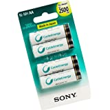 Sony AA 2500 mAh Rechargeable Battery (Pre-Charged) (pack of 4)