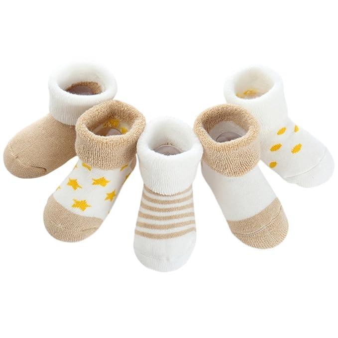 Jipai(TM) 5 Pares Calcetines de Recién Nacido Patucos Bebé de ...