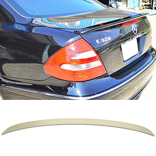 Trunk Spoiler Fits 2003-2009 Benz E-Class W211 | TL Style Unpainted ABS Added On Lip Wing Bodykits by IKON MOTORSPORTS | 2003 2004 2005 2006 2007 2008 2009