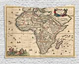 Ambesonne Antique Decor Collection, Old Map Of Africa Continent Ancient Historic Borders Rustic Manuscript Geography, Bedroom Living Room Dorm Wall Hanging Tapestry, 80W X 60L Inch Review