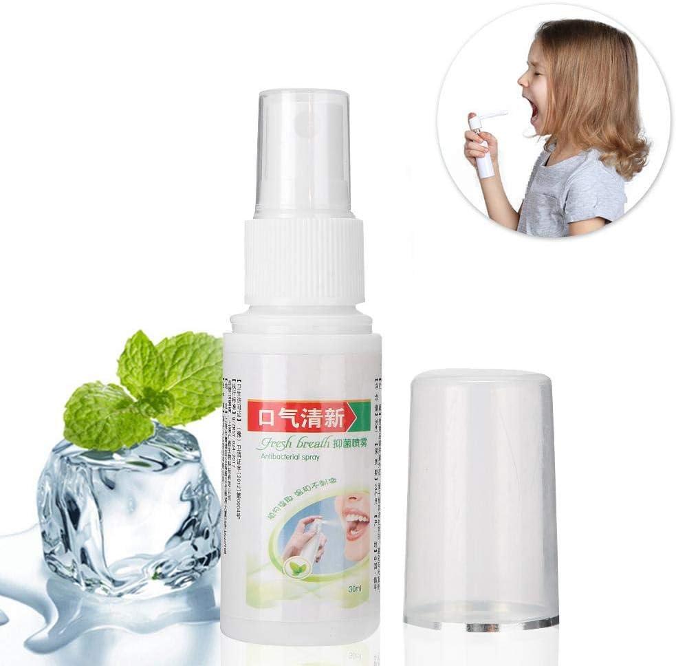 Ambientador bucal, spray bucal fresco de 30 ml, cuidado bucal de larga duración para los dientes y las encías de mal aliento
