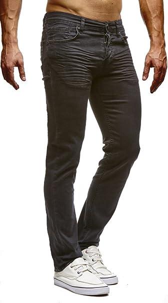 große Auswahl an Farben Sportschuhe offizielle Seite LEIF NELSON Men's Trousers Jeans Jeans Stretch Leisure Trousers Schwarz  LN307SC-RF