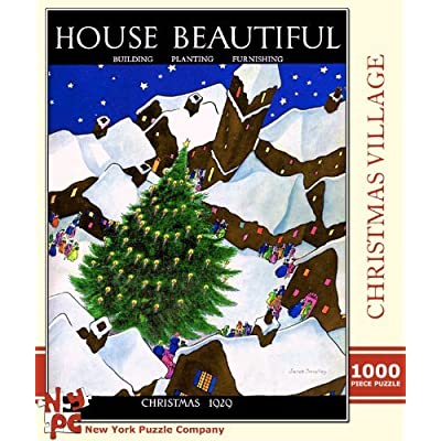 Christmas Village 1000 Piece Puzzle: Toys & Games