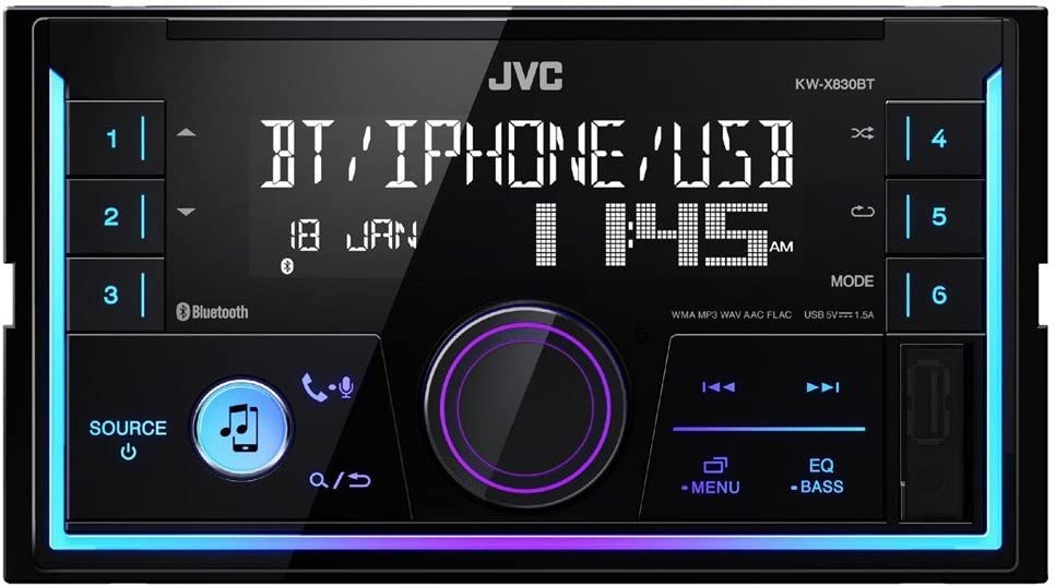 JVC KW-X830BT, Autoradio Multimedia Bluetooth, 1, Negro
