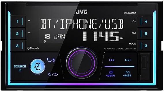 JVC KW-X830BT Doppel-DIN Media-Receiver mit Bluetooth-Freisprechfunktion und Audiostreaming schwarz