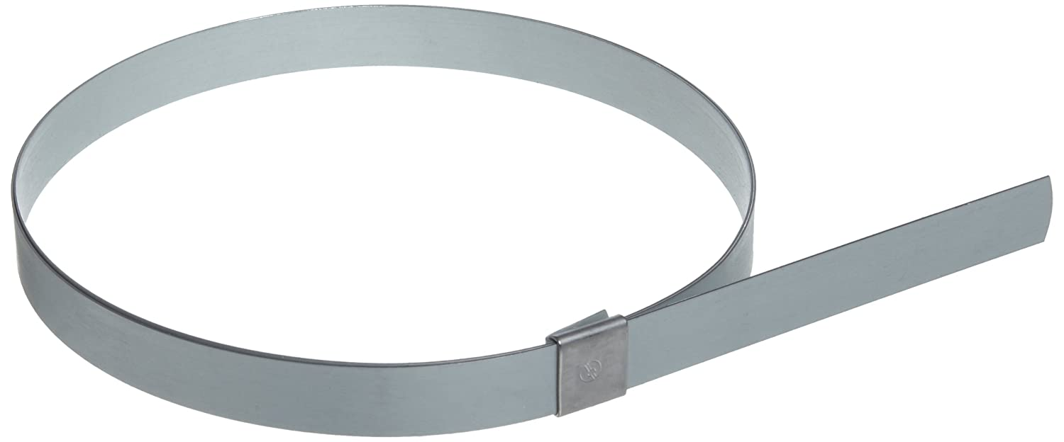 Galvanized Carbon Steel Center Punch Clamp BAND-IT CP2499 5//8 Wide x 0.025 Thick 6 Diameter 25 Per Box