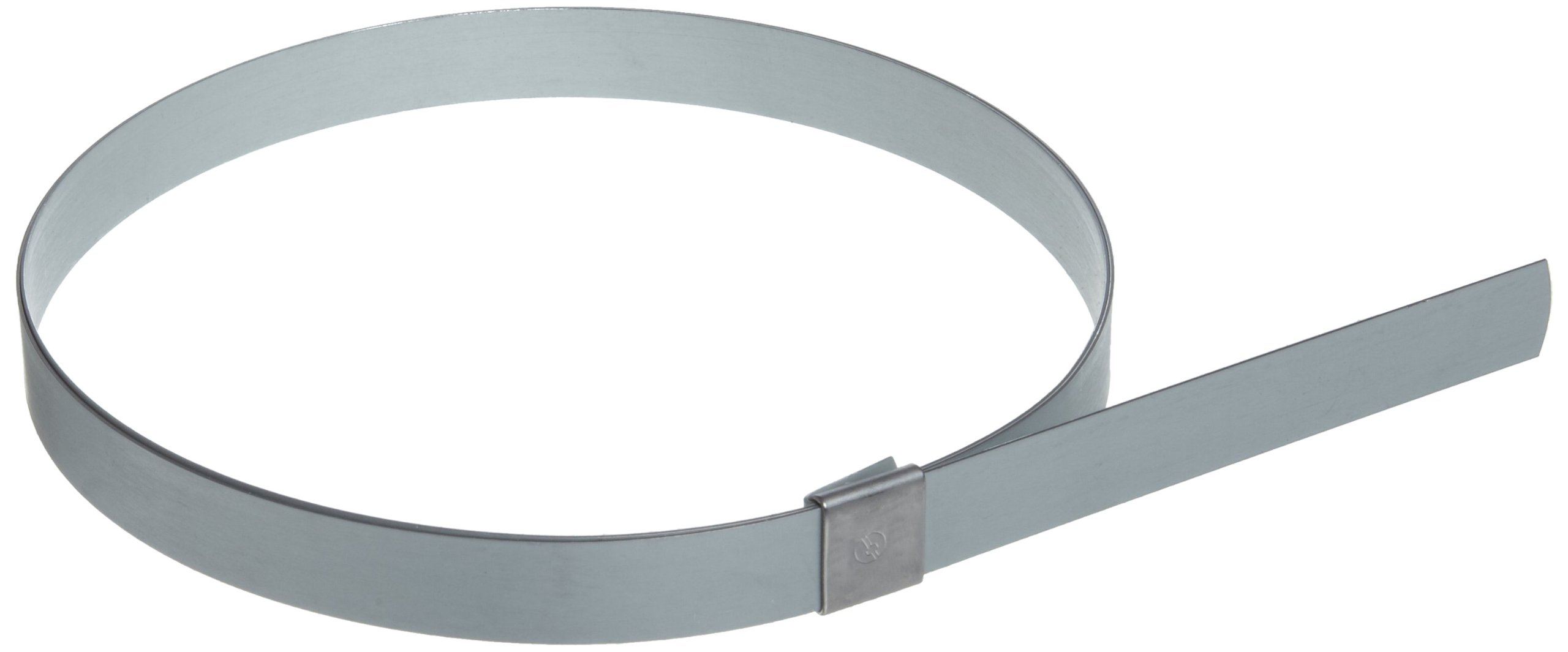 BAND-IT CP2499 5/8'' Wide x 0.025'' Thick 6'' Diameter, Galvanized Carbon Steel Center Punch Clamp (25 Per Box)