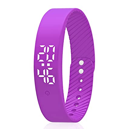 Smart Wristband Pedometer Watch Non-Bluetooth Pedometer Bracelet Fitness Tracker Watch with Step Calories Counter Distance Time/Date [No app,No Phone ...