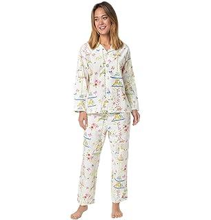 78e2321b5 Tossed Roses Pima Knit Long-Sleeved Pajama at Amazon Women's ...