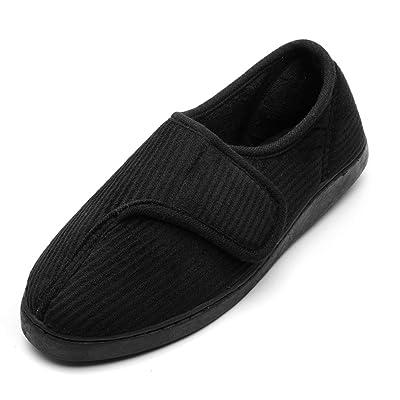 Git-up Diabetic Slippers Shoes for Men Arthritis Edema Adjustable Closure Memory Foam House Shoes | Slippers