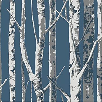 Birch tree temporary wallpaper 2ft x 4 ft - Birch tree wallpaper peel and stick ...