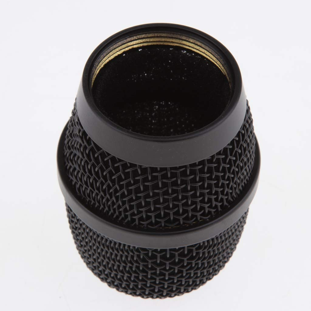 Baosity Replacement Steel Mesh Microphone Grill Head for Wireless Mics and Wired Mics Silver as described