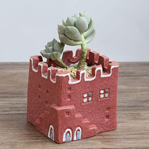 CQCY Macetas de cerámica para plantas suculentas, pequeñas casas ...