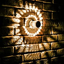 Spiral Wall Sconce Ceiling Light 3w Decorative Light Fixture for Bedroom, Hallway, Corridor, Bar, Cafe, Living Room, Warm White