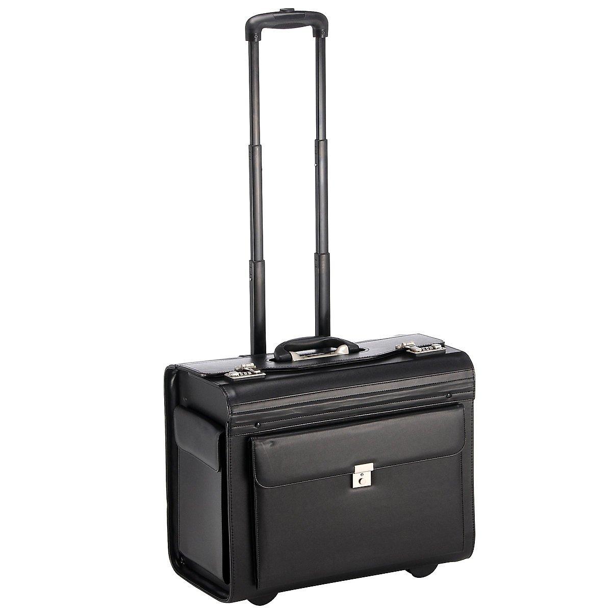 Dermata Business Pilotenkoffer auf Rollen XL 50 cm schwarz