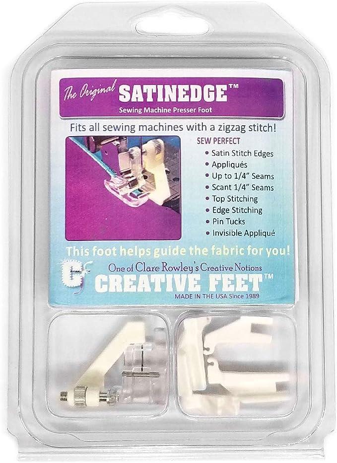Creative pies Satinedge para máquina de Coser prensatelas pies ...