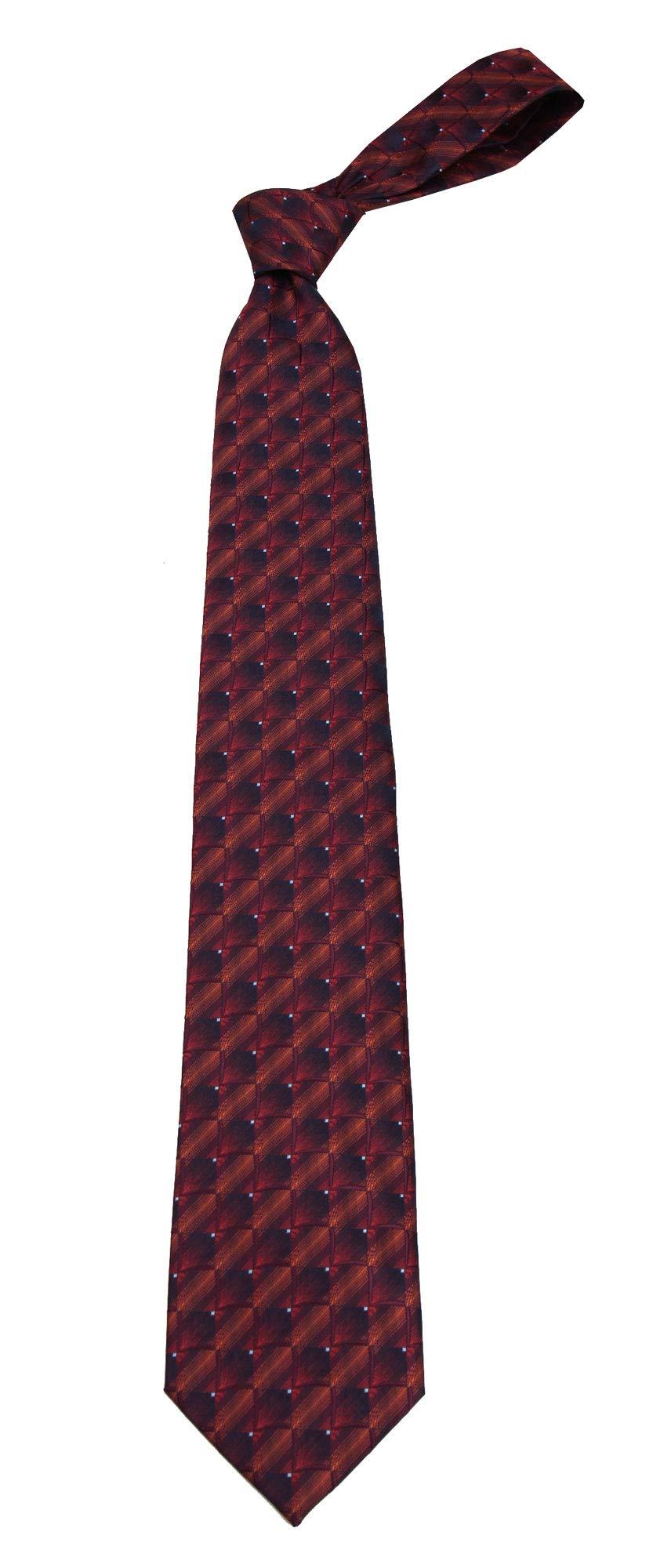 B-11690 - Boys Youth Burgundy Pattern Designer Necktie Ties