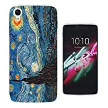 905 - Vincent Van Gogh Starry Night Design ALCATEL ONE TOUCH IDOL 3 (5.5'') Fashion Trend CASE Gel Rubber Silicone All Edges Protection Case Cover