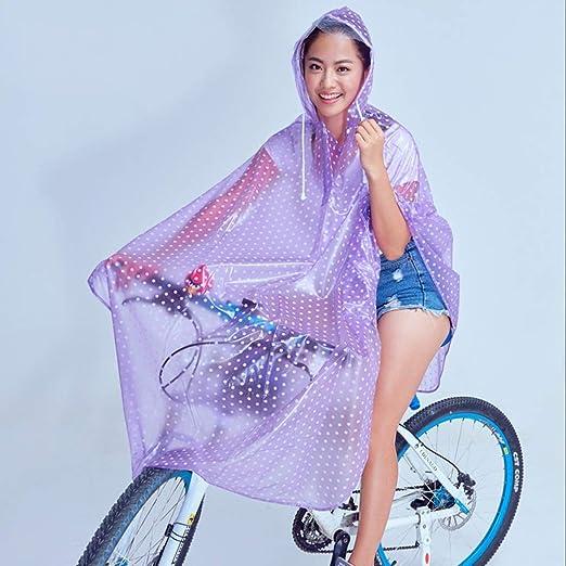 Cheng-chubasquero Poncho Transparente para Bicicleta Impermeable ...