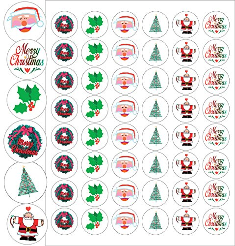 Assorted Christmas Envelope Seals - 1.2
