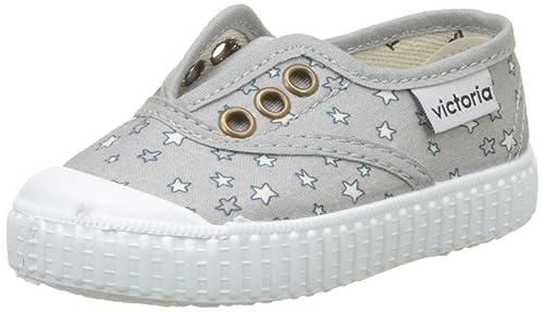 VICTORIA Ingles Elástico Estrellas, Zapatillas Unisex bebé, Gris, 19 EU: Amazon.es: Zapatos y complementos