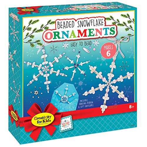 Snowflake Beaded Ornaments (Creativity for Kids Beaded Snowflake Ornaments - Create 6 Christmas Tree Ornaments (New Packaging))
